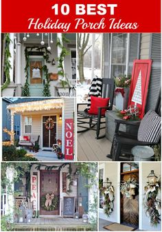 10 Best Holiday Porch Ideas to inspire you to create a warm and inviting front porch for guests this holiday season.