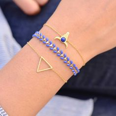 Majolie  - Triangle Gold Bracelet -   - 1