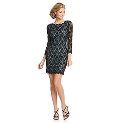 Adrianna Papell® Beaded Lace Shift Dress at www.bonton.com