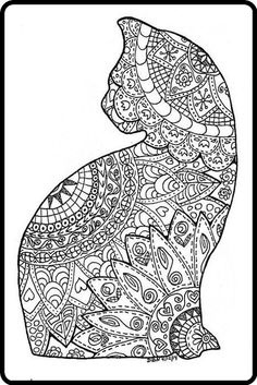 Cat zentangle | Welcome to my Daily Dose!