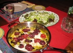 this is a beautiful Valentine's day meal.  Roasted Halibut with blood oranges and olives.