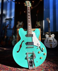 Love the color on this 1998 Epiphone Casino VT from @strumpdx #epiphone #epiphoneguitars #epiphonecasino #hollowbodyguitar #studio33guitar