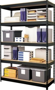 Shop Staples® for Hirsh IRON HORSE Industrial Steel Shelving, 5-shelf, 18'' x 48'', Black and enjoy everyday low prices, and get everything you need for a home office or business.