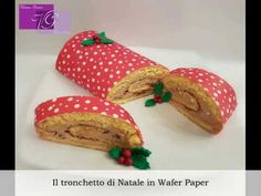Tutorial Sweet Christmas Roll in Wafer Paper  Tronchetto di Natale in Wafer Paper - YouTube #waferpaper #Esspapier #valentinagraniero #newstyle #natale #ideenatale #tutorial #christmas
