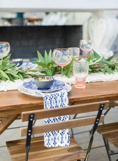 Hot Pink & Cobalt Blue Grecian Wedding Inspiration - Inspired by This