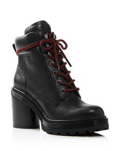 1e3a2be9625806 MARC JACOBS - Women s Crosby Round Toe Leather Platform Hiking Boots Boots  Online, Hiking Boots