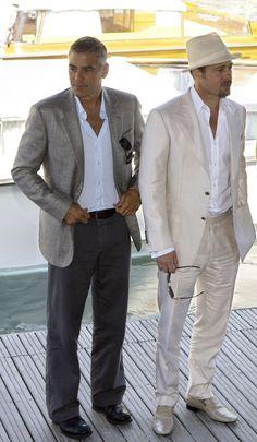 Clooney and Pitt