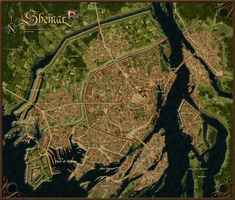 A website and forum for enthusiasts of fantasy maps mapmaking and cartography of all types. We are a thriving community of fantasy map makers that provide tutorials, references, and resources for fellow mapmakers. Fantasy City Map, Fantasy World Map, Fantasy Castle, Fantasy Places, Environment Map, Imaginary Maps, Rpg Map, City Layout, Merian