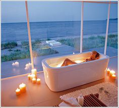 Beautiful bathing... the tub & the view...