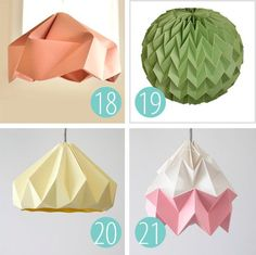 """25 """"DIY-able"""" Paper Light Shades #OrigamiLamp"""