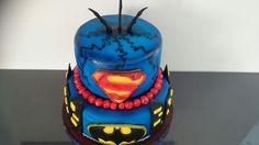 Batmen vs supermen cake Birthday Cake, Desserts, Food, Tailgate Desserts, Deserts, Birthday Cakes, Essen, Postres, Meals