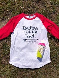 Teachers Gonna Teach Baseball Jersey T Shirt by HeyYallandCo on Etsy