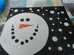 This easy art project is a great way to decorate for the winter season.
