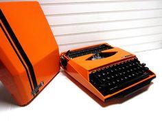 Orange Smith Corona Super G Manual Typewriter