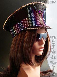 3715a401920ae CUSTOM Burning Man Hat Captain Hat Festival Hat Costume Festival Gear