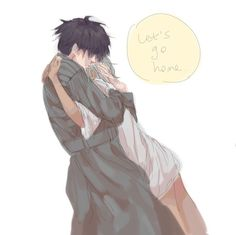 Urie x Mutsuki embrace
