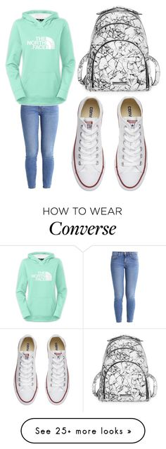 """Untitled #464"" by arcarmona-ac on Polyvore featuring Current/Elliott, Converse and Kendall + Kylie"