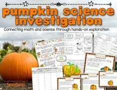 Pumpkin Science Investigation. Hands on pumpkin science exploration! Everything you need, except the pumpkin ;)