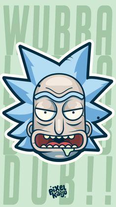 ((Rick and Morty))Pixelkaiju Rick And Morty Time, Rick And Morty Quotes, Rick And Morty Poster, Cartoon Wallpaper, Iphone Wallpaper, Otaku Anime, Rick And Morty Drawing, Graffiti, Nerd Cave