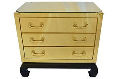 Brass 3 Drawer Chest on OneKingsLane.com  would def use this for a night stand
