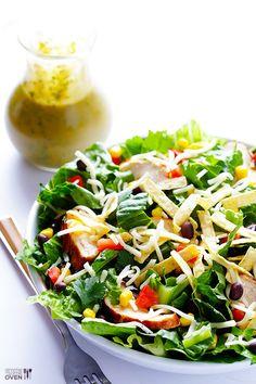 Santa Fe Salad With Cilantro-Lime Viniagrette