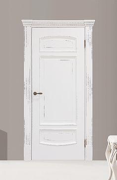 Межкомнатная дверь «Верона». Отделка «белая эмаль с шоколадной патиной» #дверирулес #двери #межкомнатные #homedecor