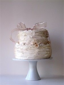 Somewhat like what my cake will look like. Mine has a bit crisper cleaner pleats though.