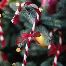 Yarn Candy Cane Ornament