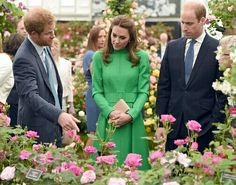 Harry, Catherine & William At The Chelsea Flower Show, May 23, 2016.