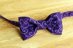 Boys Bow Tie  Delightful purple bow tie for infant by becauseimme