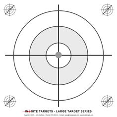 Pistol & Rifle The targets listed here are suited to pistol and rifle. Shooting Targets, Shooting Sports, Target Image, Firearms, Guns, Diy, Cleaning, Mandalas, White People