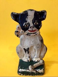 Antique Hubley Doorstop Boston Terrier