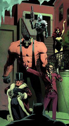 Imaginary Gotham - The art of Batman and his Universe. Comic Book Villains, Dc Comics Characters, Comic Books Art, Batman Universe, Comics Universe, Comic Sans, Dc Comics Personnages, Illustration Batman, Batman Kunst