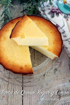 365 days gluten free: Cheesecake, And . 365 days gluten free: Cheese, Yogurt and Lemon Cake - Healthy Sweet Treats, Healthy Sweets, Healthy Breakfast Recipes, Gluten Free Cakes, Gluten Free Recipes, Sweet Recipes, Cake Recipes, Caramel Dip, Delicious Desserts