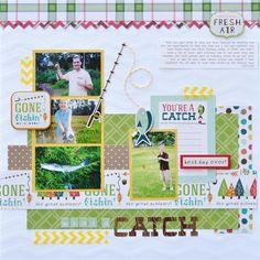What A Catch - Scrapbook.com Echo Park Happy Camper