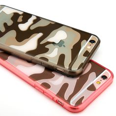 Luxury Transparent Camouflage Color Design Acrylic Mobile Phone Case For Apple iphone5 5s SE 6 6s 6Plus 6sPlus Back Cover Bags