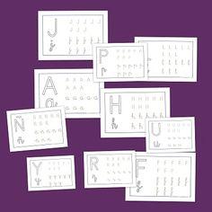 Fichas de infantil: Lectoescritura con vocales