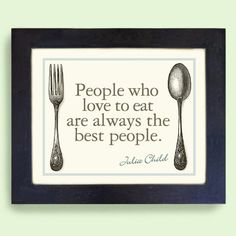 Wall Art for Kitchen Decor Cooking Julia Child Quote Vintage Art Print via Etsy