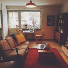 Living Area, Living Room, Dream Apartment, Diy Furniture, Corner Desk, Room Decor, House Design, Inspiration, Interiors