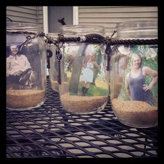 Mason Jars, for my graduation party decorations! I put these on the tables for center pieces.