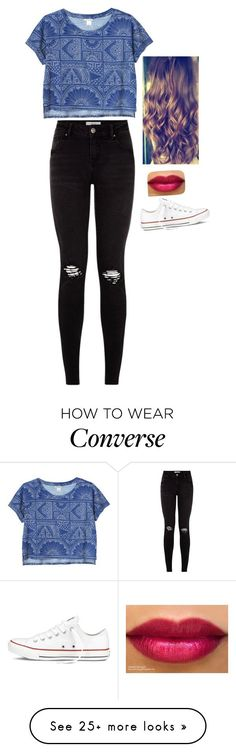 """302"" by silviagp on Polyvore featuring Monki and Converse"