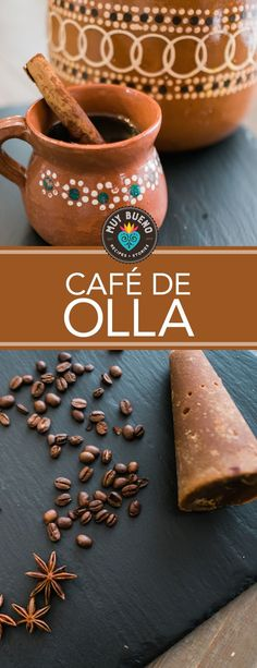 Café de Olla VideoThanks for this post. Traditionally this recipe is made using a Mexican clay pot giving it a very unique flavor, but it isn't necessary. I'm going to show you how to make this authentic coffee using# Café Mexican Coffee Recipe, Mexican Breakfast Recipes, Coffee Recipes, Mexican Food Recipes, Mexican Brunch, Drink Recipes, Coffee Uses, Fresh Coffee, Mexican Clay Pots