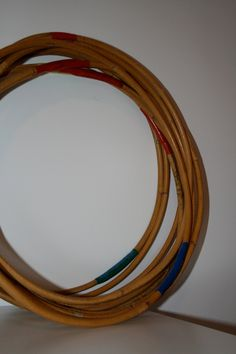 Bamboo Hula Hoops. I would love to try hooping with a bamboo hoop!