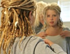 Dreads before and after/ Kids with dreads