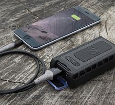Scosche goBAT 6000 Rugged Portable Backup Battery - The goBAT 6000 is a portable backup battery for charging your devices in the wild. It's tough: IP68 waterproof & dustproof rating and Military Spec 810G Drop/Shock construction. The 6000 mAh battery will charge most phones up to 3 times & its high-power USB port auto-detects the fastest possible charge speed for your device. | werd.com