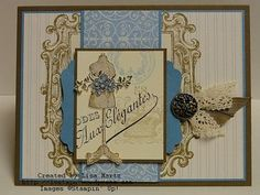 ♥♥♥ this card by Lisa Martz using Stampin' Up! products.  Sew ♥ the Mannequin!