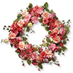 "Found it at Wayfair - 32"" Mixed Rose Wreath"