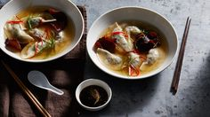 Pork Dumplings With Asian Broth and Wood Ear Mushrooms Easy Cake Recipes, Pork Recipes, Asian Recipes, Cooking Recipes, Oriental Recipes, Japanese Recipes, Chinese Recipes, Quick Recipes, Yummy Recipes