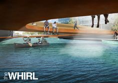 Visual under the structure - THE WHIRL (by Marc de Vrij & Melle van Dijk) Ørestad, Copenhagen hotspot design for Innosite 'Mind the gap' competition. Landscape architecture.