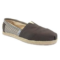 Toms 19B09 Classic Rope Slip on Striped Espadrille Shoe